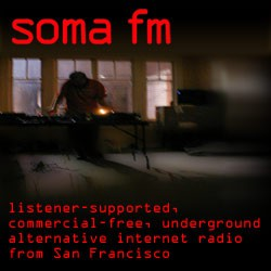 Commercial free but not fat free internet radio, SomaFM